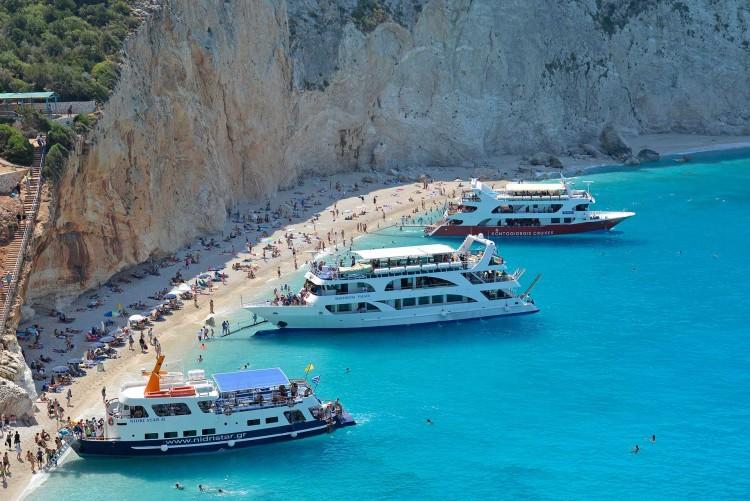 Boat trips around Lefkada Island, Greece