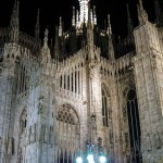 Milan Cathedral night photo