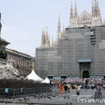 Milan Cathedral under construction