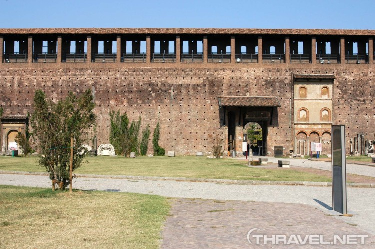 Sforza Castle walls