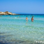 Vourvourou - clear water on the beach of Halkidiki