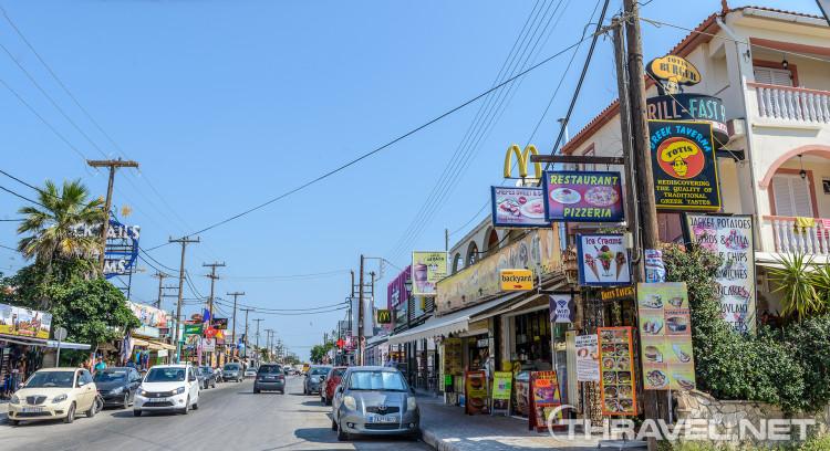 Laganas - main street