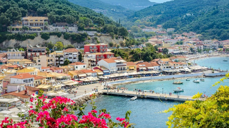 Parga Greece panoramic view